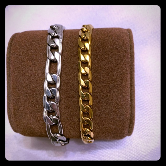 Other - Set of Two Stainless Steel Bracelets